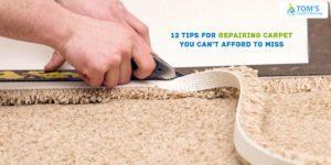 Repairing Carpet