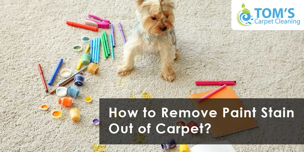 How to Remove Paint Stain Out of Carpet